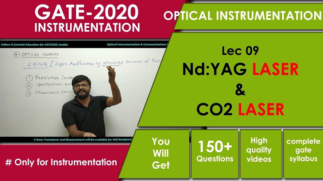 Lec 09 Nd:YAG and CO2 Laser | Optical Instrumentation for GATE