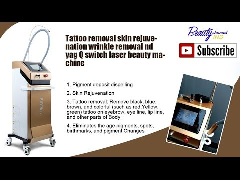 Q Switched ND YAG Laser Tattoo Removal Skin Rejuvenation Machine
