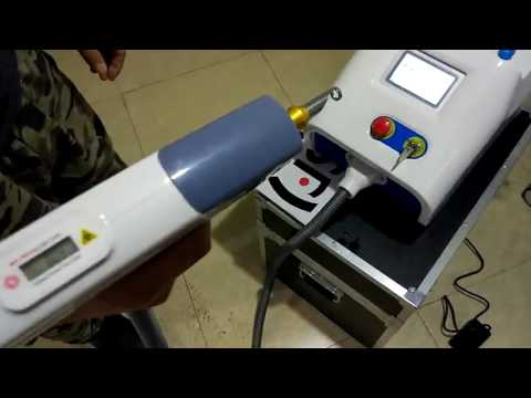 TSL 1121G1 nd yag q laser tattoo removal machine  interface and demo