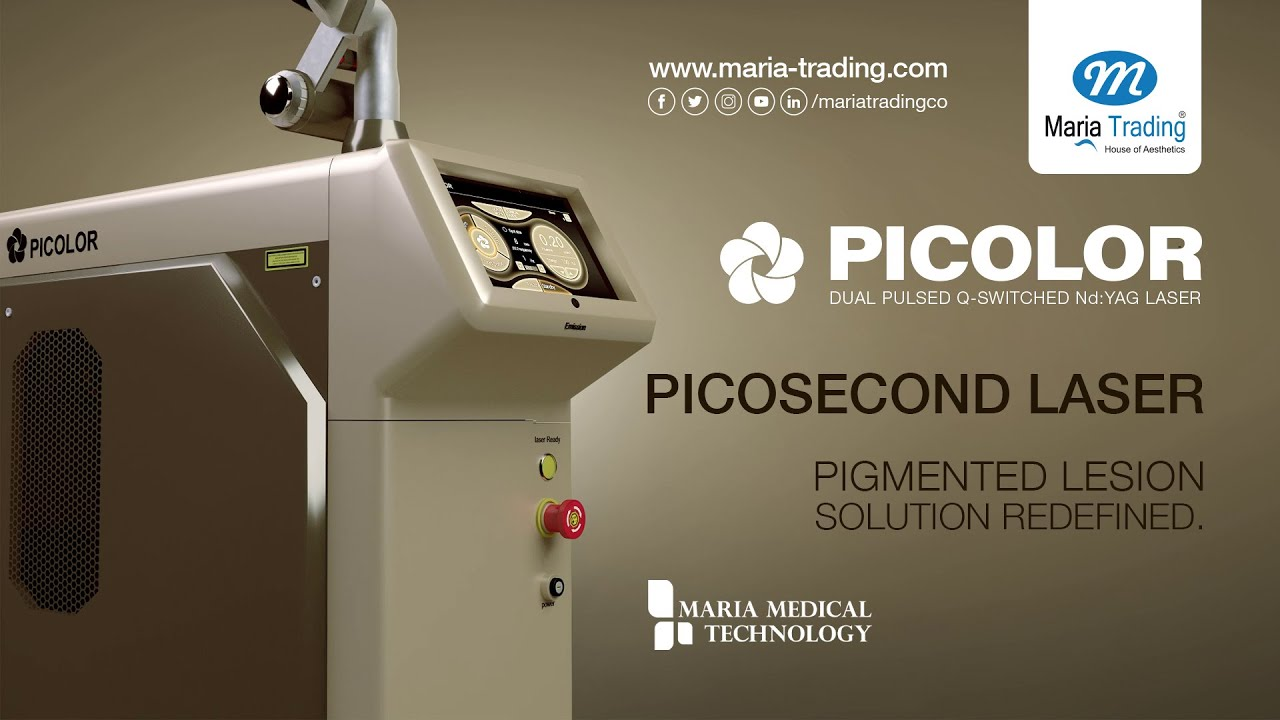 Picolor Dual Pulsed Q-Switched Nd:YAG Laser | Maria Trading | Tattoo Removal | Carbon Peeling