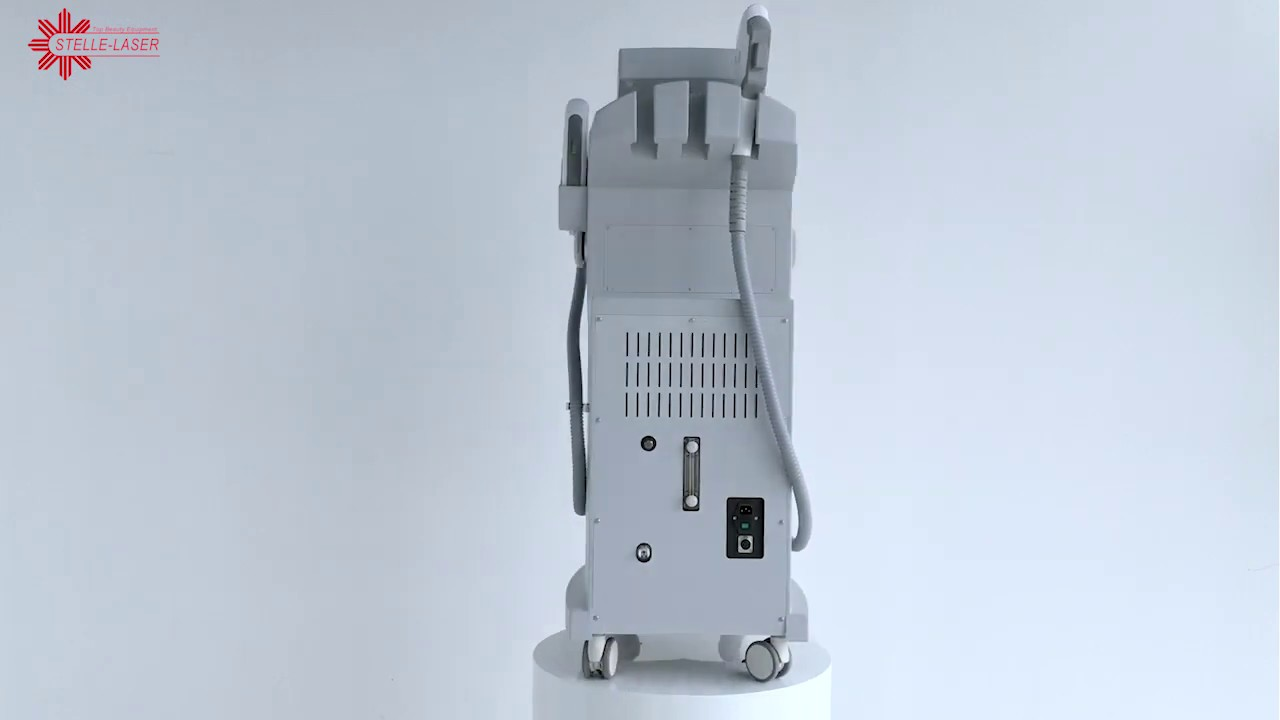 Vertical IPL + Nd yag laser tattoo removal and hair removal machine