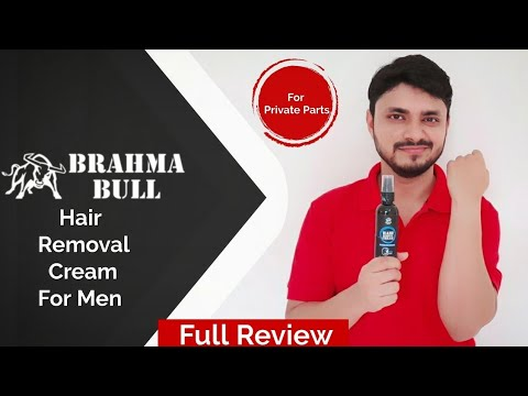 Brahma Bull Men Hair Removal Cream|Aloevera & Lemon| Better Than VEET| Recommended for Private Parts