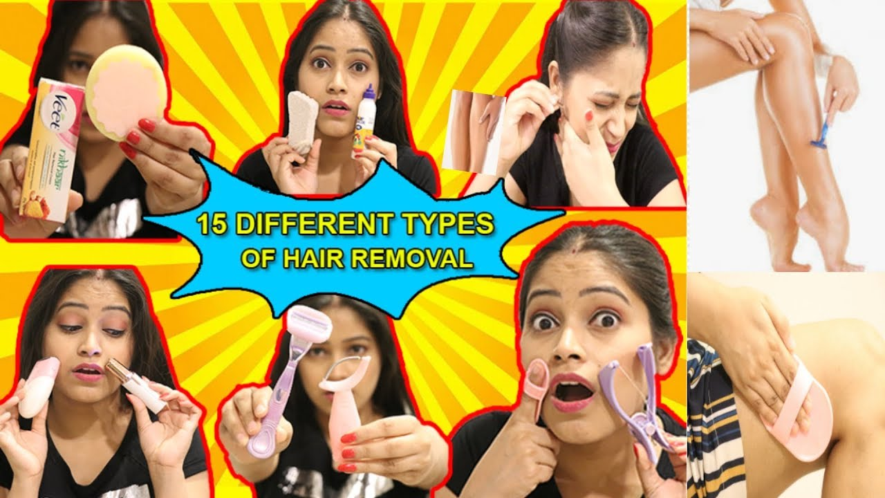 🤕I TRIED 15 Different types of hair removal आउच😭बहुत दर्द हुआ मार डाला🥶|Be Natural