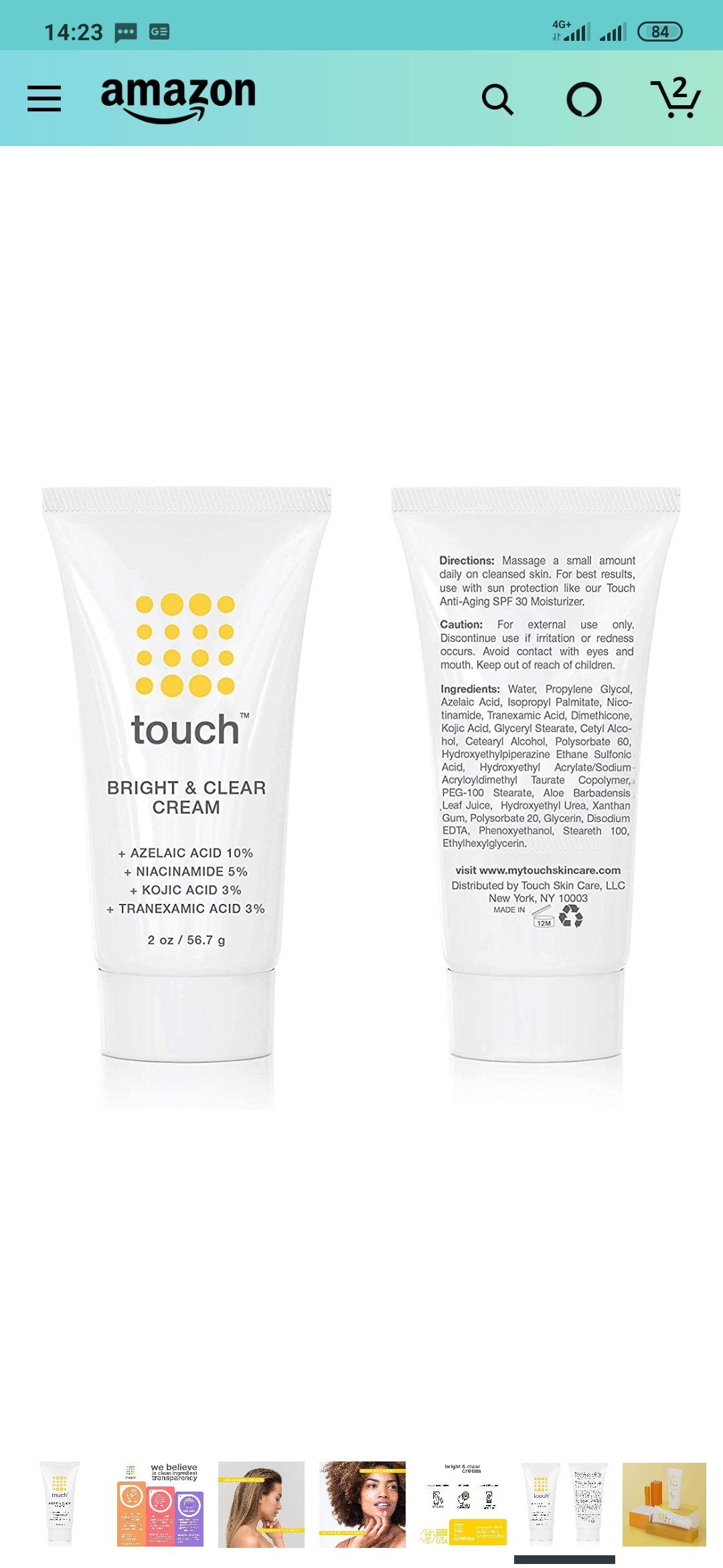 [Product Question] Touch Bright and Clear Serum is now a cream. Has anyone used this?
