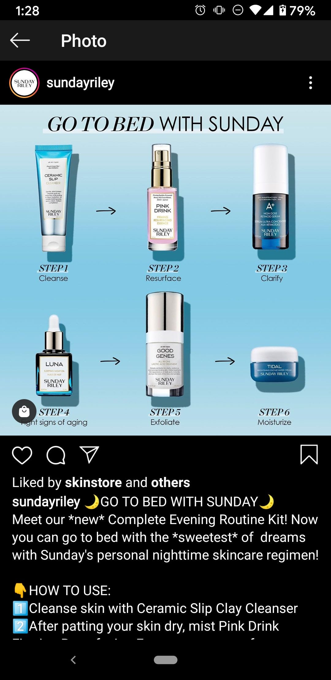 [misc] I'm absolutely losing my mind over Sunday Riley's recommended nighttime routine.