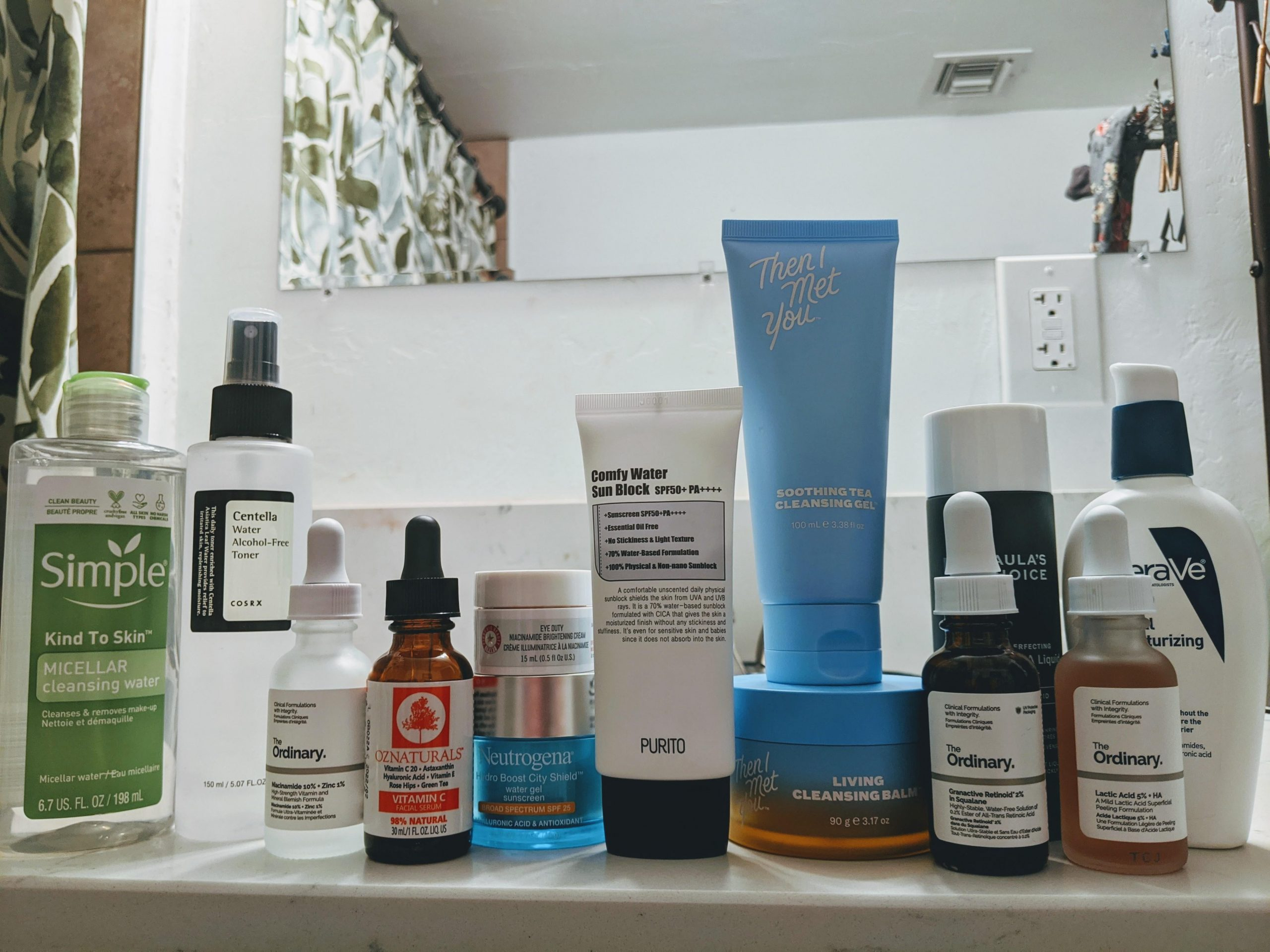 [Shelfie] of an oily skin person living in an extremely dry climate